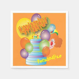 A Cute Clown Birthday Napkin