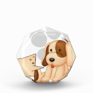 A cute dog with an empty rectangular template award