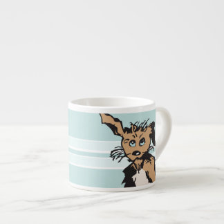 A Cute Dog With Blue Puppy Eyes Espresso Cup