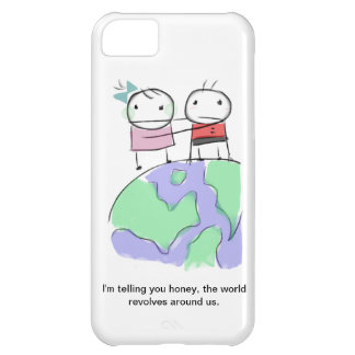 A cute earth-loving doodle by Monsterize Cover For iPhone 5C