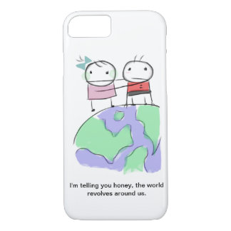 A cute earth-loving doodle by Monsterize iPhone 7 Case