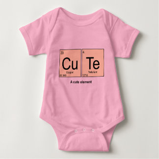 A Cute Element periodic table baby bodyshirt Baby Bodysuit