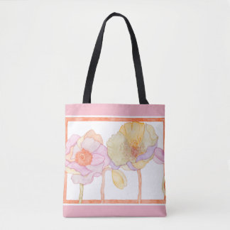 A cute floral-style tote bag