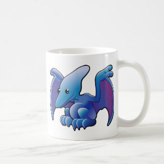 A cute friendly dinosaur pterodactyl or pteranodon coffee mug