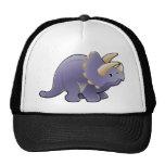 A cute friendly triceratops dinosaur mesh hat