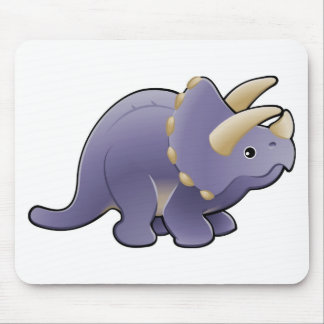 A cute friendly triceratops dinosaur mouse pad