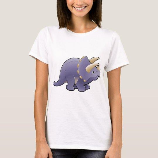A cute friendly triceratops dinosaur T-Shirt