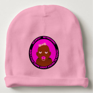 A cute, funny, baby girl baby beanie
