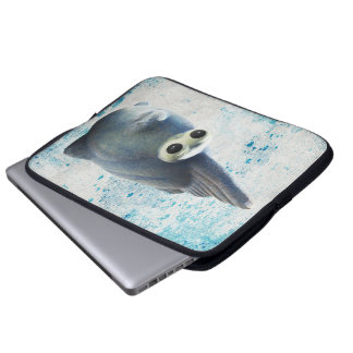 A Cute Funny Fish With Big Eyes Laptop Sleeve