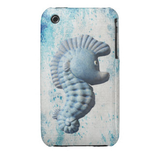 A Cute Funny Whimsical Seahorse Case-Mate iPhone 3 Case