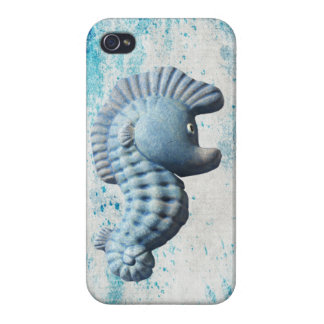 A Cute Funny Whimsical Seahorse iPhone 4 Covers