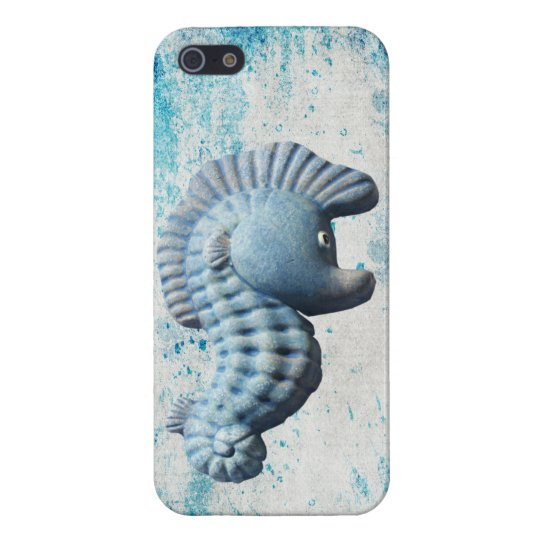 A Cute Funny Whimsical Seahorse iPhone SE/5/5s Cover