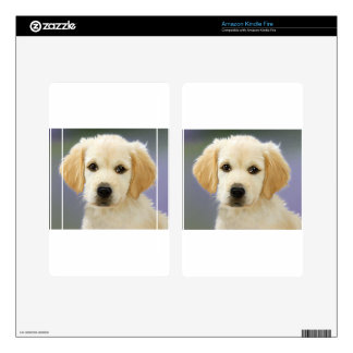 A cute Golden Retriever posing painting Kindle Fire Skins