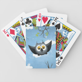 A Cute Gray Owl Bicycle Playing Cards