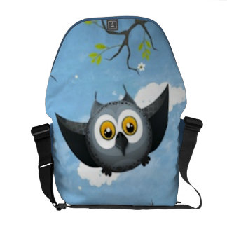 A Cute Gray Owl Courier Bag