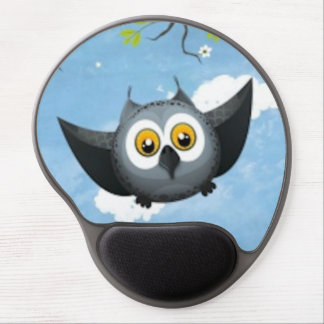 A Cute Gray Owl Gel Mouse Pad