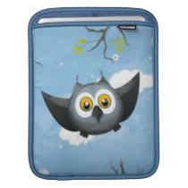 A Cute Gray Owl iPad Sleeve
