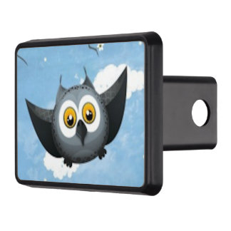 A Cute Gray Owl Trailer Hitch Covers