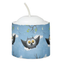 A Cute Gray Owl Votive Candle