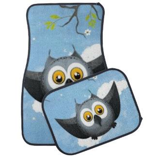 A Cute Gray Owl Car Mat