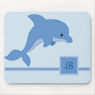 A Cute Happy Dolphin Mouse Pad