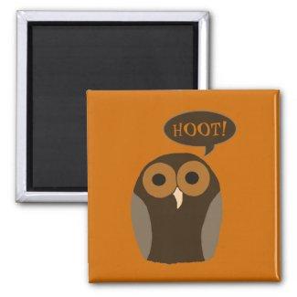 A Cute Hoot Owl Magnet