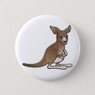 A cute kangaroo with a joey in its pouch button