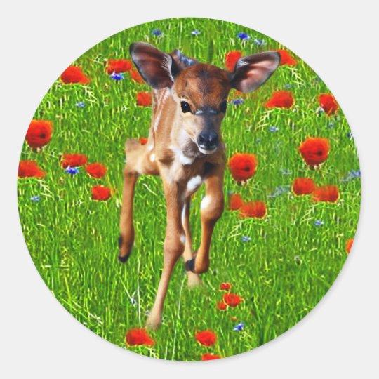 A cute little baby Nyala's joy Classic Round Sticker