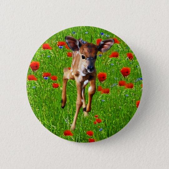 A cute little baby Nyala's joy Pinback Button