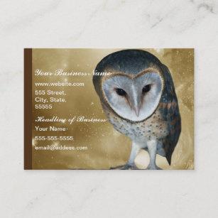 Cute owl business cards templates zazzle a cute little barn owl fantasy business card colourmoves