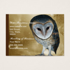 A Cute Little Barn Owl Fantasy Business Card at Zazzle