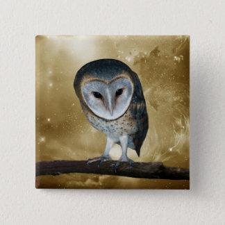 A Cute little Barn Owl Fantasy Button