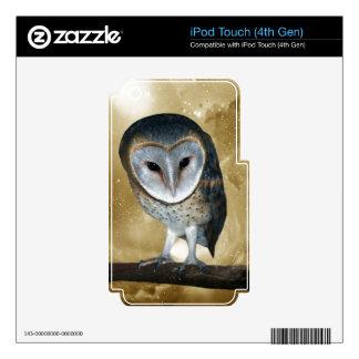 A Cute little Barn Owl Fantasy iPod Touch 4G Skin