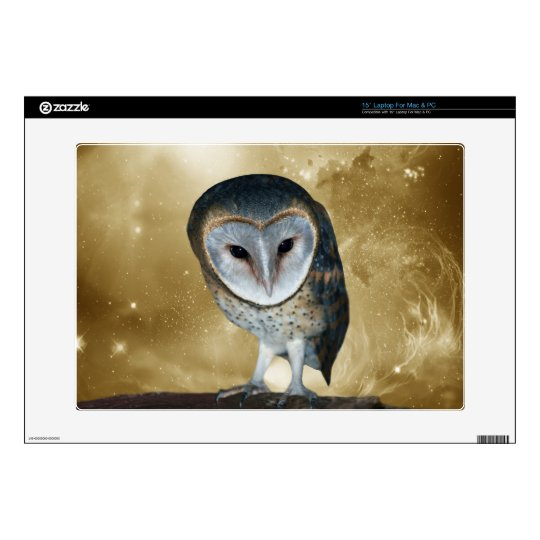 A Cute little Barn Owl Fantasy Laptop Skins