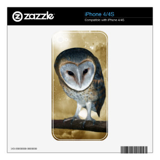 A Cute little Barn Owl Fantasy Skin For iPhone 4S