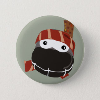 A cute little happy Ninja button. Pinback Button