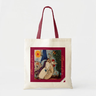 A cute Moments of Love budget tote bag.
