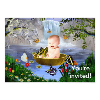 A cute nature baby invitation