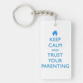 A Cute Parenting Truism Key Chain Keep Calm Gift