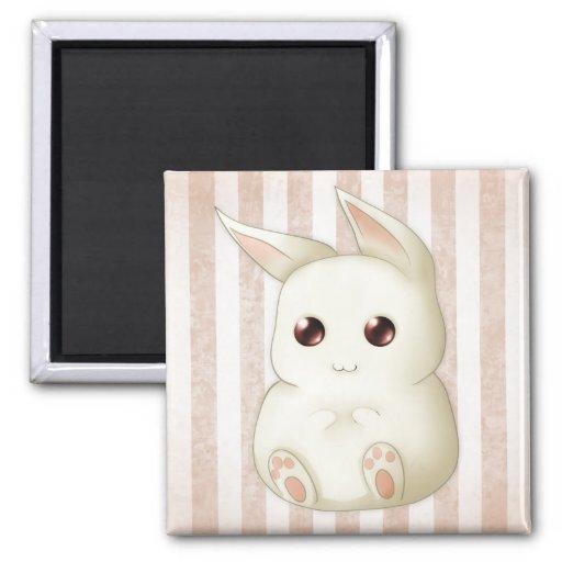 A Cute Puffy Kawai Bunny Rabbit Magnets