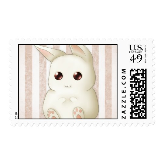 A Cute Puffy Kawaii Bunny Rabbit Postage