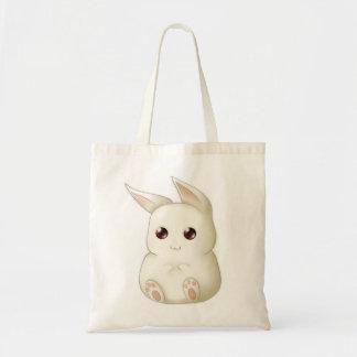 A Cute Puffy Kawaii Bunny Rabbit Tote Bag
