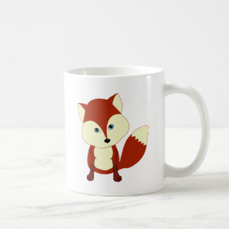 A cute red fox coffee mug