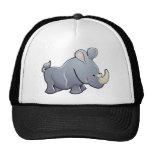 A cute rhino or rhinoceros mesh hats