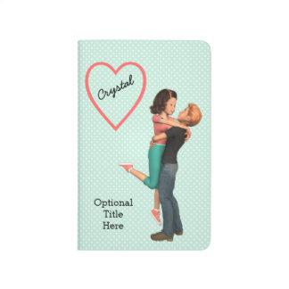 A Cute Romance: Sweethearts Embrace (Personalized) Journal