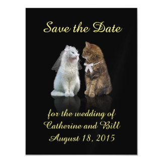 A cute Save the Date Magnet for Cat Lovers