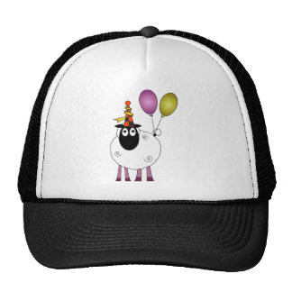 A cute sheep at party time. hat