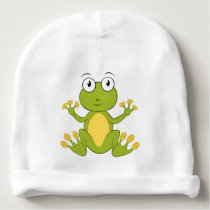 A cute small frog for baby - baby beanie