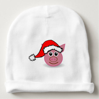 A cute small pig for Christmas - Baby Beanie
