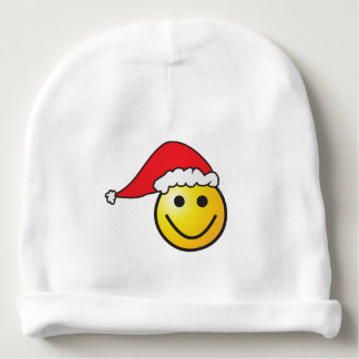 A cute small smiley for Christmas - Baby Beanie